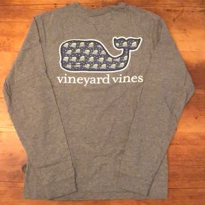 Vineyard Vines Long Sleeve Holiday Whale Tee